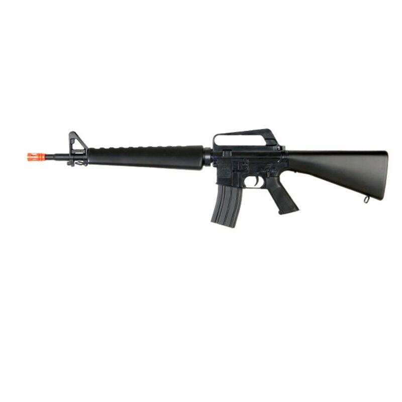 WELL M16A2 M16 VIETNAM STYLE SPRING AIRSOFT RIFLE 6MM GUN W/ BBS - BLACK