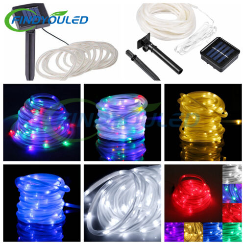 Solar Rope Lights Ebay: 23ft 50leds Solar Rope Tube Lights Led String STRIP