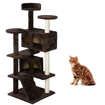 "(52/36/60/80)""Cat Tree Tower Furniture Scratching Post Pet Cat Kitten Play House"