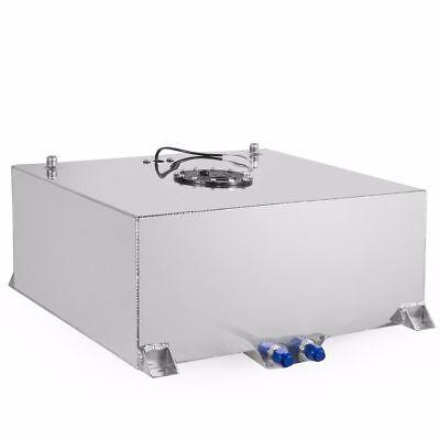 20 Gallon Lightweight Polished Aluminum Race Drift Fuel Cell Tank Level Sender ()