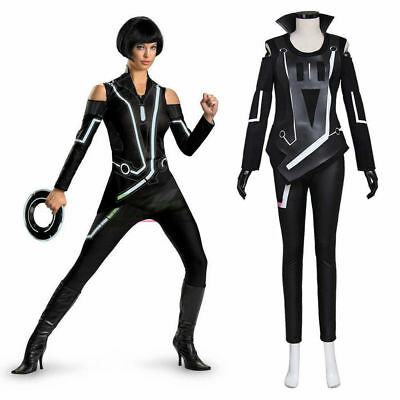 Tron: Legacy Quorra Adult Women's Jumpsuit Cosplay Costume custom - Tron Costume Women