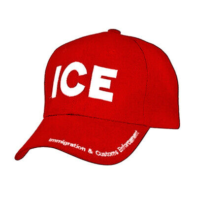 ICE Hat Immigration and Customs Enforcement Baseball Cap Embroidered 6 Panel Hat