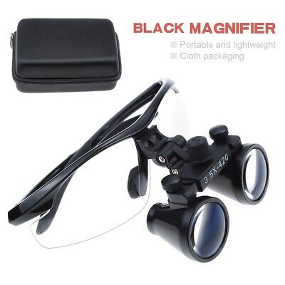 3.5x420mm Dental Medical Binocular Loupes Optical Magnifing Loupes Black