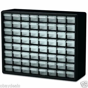 NEW 64 Drawer Plastic Parts Hardware Organizer Storage Cabinet Bin Craft Beads