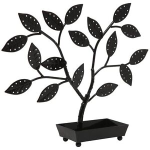 Jewelry-Tree-Organizer-Hanger-Necklaces-Earrings-Holder-Black-Tower-Box
