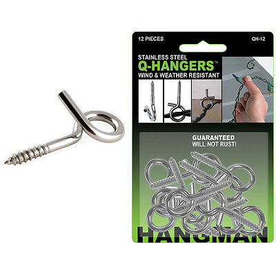 Stainless Steel Q Hangers Outdoor Wire Holder   Pack Options   Hangman Products