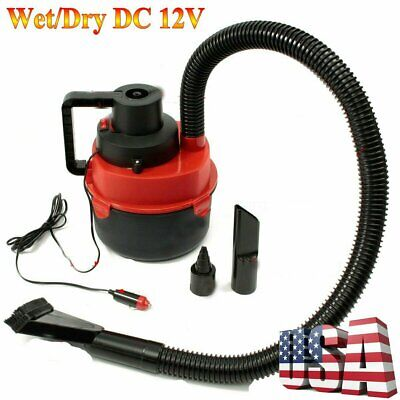 WET DRY 12V VACUUM CLEANER CAR VAN CARAVAN BOAT FLOOR AIR PUMP INFLATOR
