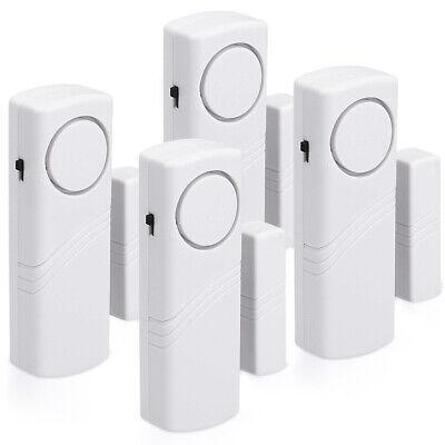 4x Fenster Tür Alarm Einbruchschutz akustisch drahtlos Alarmanlage 100dB Sirene Tür Alarm