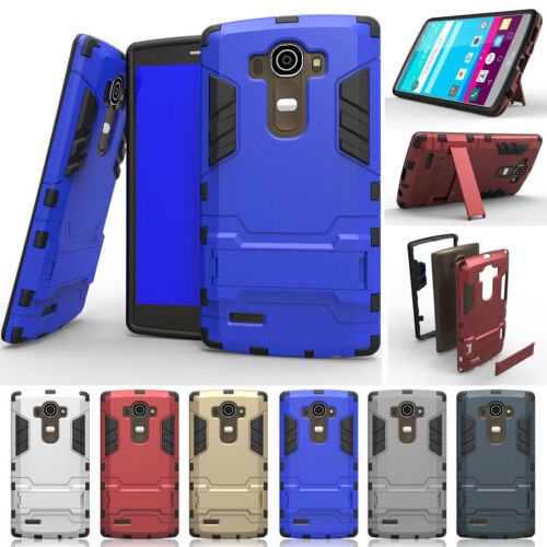 Heavy Duty Hybrid Rugged Shockproof Armor Hard Case Cover Clip Holster For LG G4