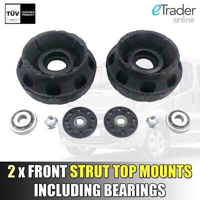 FOR VAUXHALL VIVARO FRONT SUSPENSION STRUT TOP MOUNT MOUNTS & BEARING x2 01-14