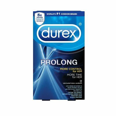 Durex Prolong + Classy Brass Pocket Case, Climax Control Ribbed Latex Condoms  Control Lubricated Latex Condoms