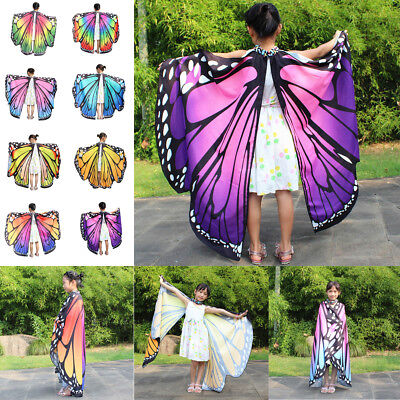 fly Wings Shawl Scarves Nymph Pixie Poncho Costume Accessory (Baby Butterfly Wings)