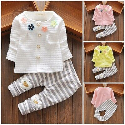 baby girl clothes girl outfit dresses spring outfits flower cardigan& pants - Girls Spring Clothing