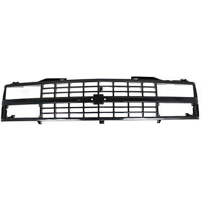 Grille For 88-93 Chevrolet C1500 K1500 Black Plastic
