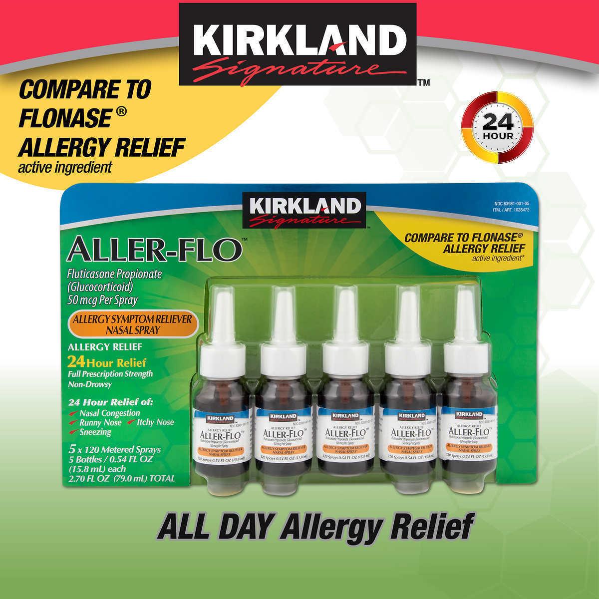 Kirkland Signature Aller-flo, 600 Sprays - 5 Bottles, 120...