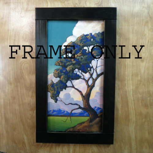 Black Simple Flat Style Frame  For 6x12 inch Oil Paintings Art William HAWKINS