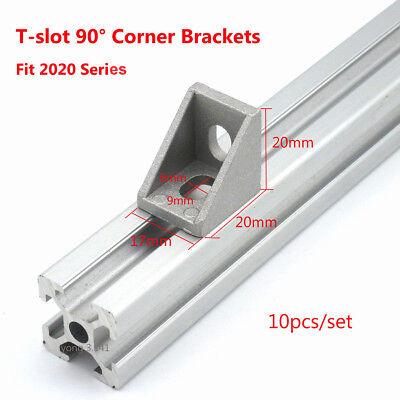 (10pcs 2020 T-slot L Shape Aluminum Brace Corner Joint Right Angle Shelf Bracket)