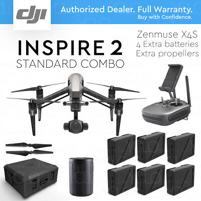 Dji Inspire 2 Standard Combo Drone Zenmuse X4s  4 Extra Batteries  Extra Props