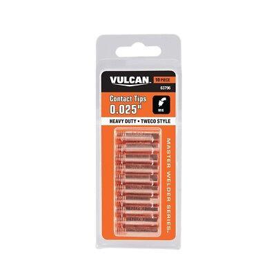New Vulcan 0.035 Mig Welding Heavy Duty Contact Tips 10 Pack - 63790