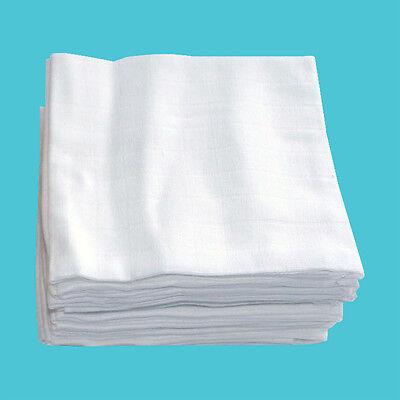 ASMi® Baumwollwindeln, Windel weiß, 10er-P. 100% Baumwolle gratis 1 Snappi NEU