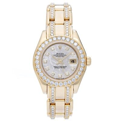 Rolex Meteorite Dial Ladies Masterpiece/Pearlmaster Watch 80298