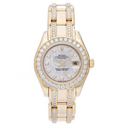 Rolex Meteorite Dial Ladies Masterpiece/Pearlmaster Watch 80298