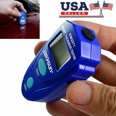 Car Paint Thickness Tester Meter Gauge Crash Check Test Lacquer Tester Tool Lcd