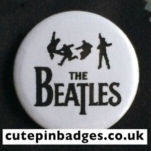 The Beatles Silhouettes Badge (25mm/1