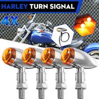 Frecce Bullet Micro LED Nere Omologate Custom Chopper Bobber Harley Honda Kawasa