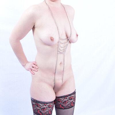 Körperkette Körperschmuck Bauchkette Halskette Kette Body Dessous ouvert