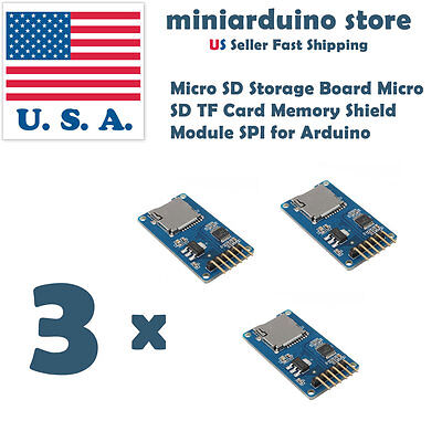 3 X Arduino Sd Card Board Micro Sd Tf Card Memory Shield Module Spi 3pcs Usa