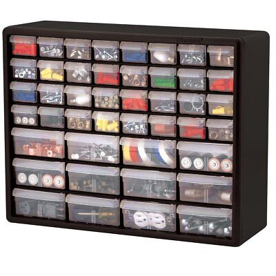 44 Drawer Organizer Plastic Parts Storage Hardware Craft Cabinet Box Container