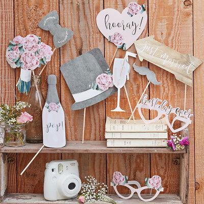 Photo Booth Set 10 tlg. Country Hochzeit Hochzeitsfotos Vintage Landhaus ()