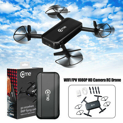 C-me Cme WiFi FPV Selfie Drone 1080P 8MP Camera GPS Altitude Hold RC Quadcopter