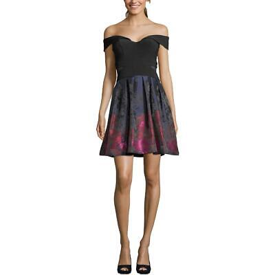 Xscape Womens Off-The Shoulder Fit & Flare Party Cocktail Dress BHFO (Off The Shoulder Fit And Flare Cocktail Dress)
