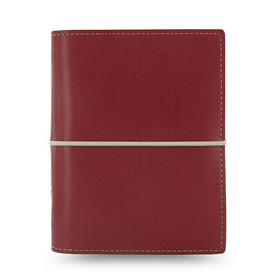 Filofax Pocket Size Domino Organiser Diary Notebook Dark Red Leather 027849 Chic
