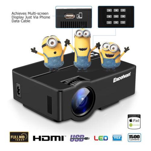 Smart TV DTV-T2 Proiettore Videoproiettore Full HD 1080P Home Cinema HDMI SD USB