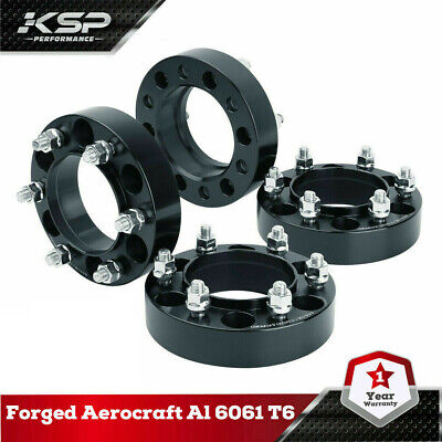 """KSP 1.5"""" Wheel Spacers 6x5.5 (139.7mm) 12x1.5 106mm Hubcentric Tacoma 4 Runner"""