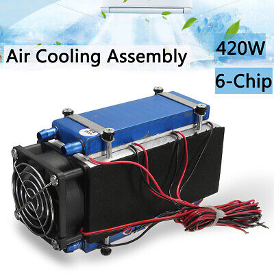 420W 6-Chip Semiconductor Refrigeration Cooler DIY Radiator Air Conditioning
