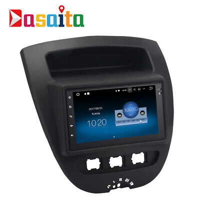 Android 7.1 Car GPS Navigation for Toyota AYGO Peugeot 107 Citroen C1 2005 radio for sale  Shipping to Canada