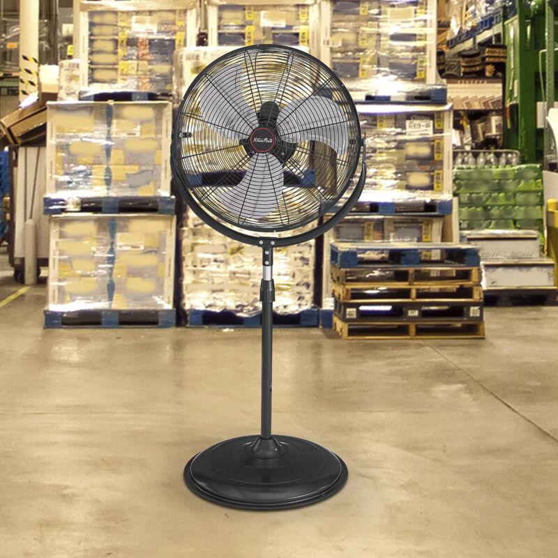 """20"""" Pedestal Fan Adjustable 3-Speed Standing Fan Floor Shop Garage Black"""
