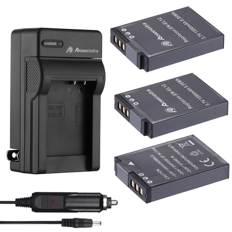 EN-EL12 Battery / Charger for Nikon Coolpix AW130 AW120 S6000 S6100 P300 P310
