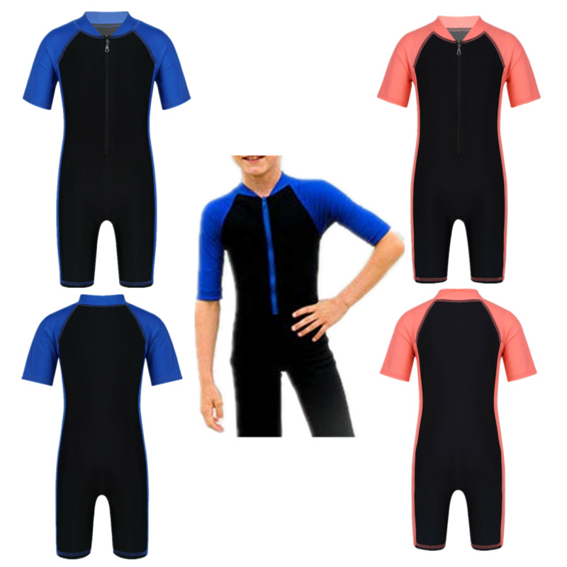 Kids Boys//Girl Wetsuit Shorty Swimwear Swimsuit Bathing Surfing Suit Rash Guard