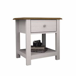 Abelina Bedside Table Mellow White