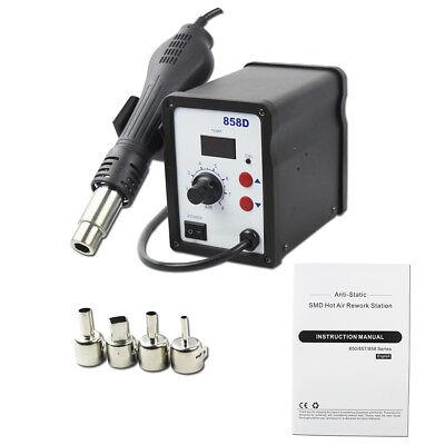 Bacoeng 110v Led Digital 858d Smd Hot Air Rework Station Solder Blower Heat Gun