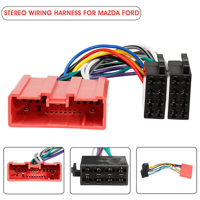 Car Stereo Radio ISO Wiring Harness Loom Adaptor Connector Cable For Mazda Ford