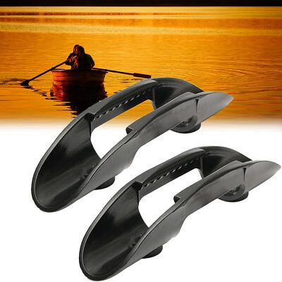 2pcs Kayak Marine Boat Paddle Clip Holder Watercraft Plastic Accessories Black