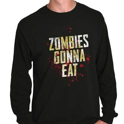 Zombies Gonna Eat Funny Dead Walker Gift Long Sleeve Tees Shirts -