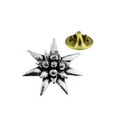 Small Edelweiss Pewter Lapel Pin Badge XTSPBC21