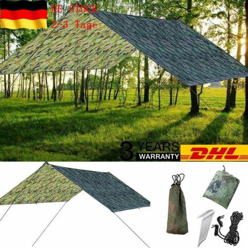 Tarp 3x3 Wasserdicht Sonnensegel Hängematte Outdoor Camping Zelt Plane DE DHL
